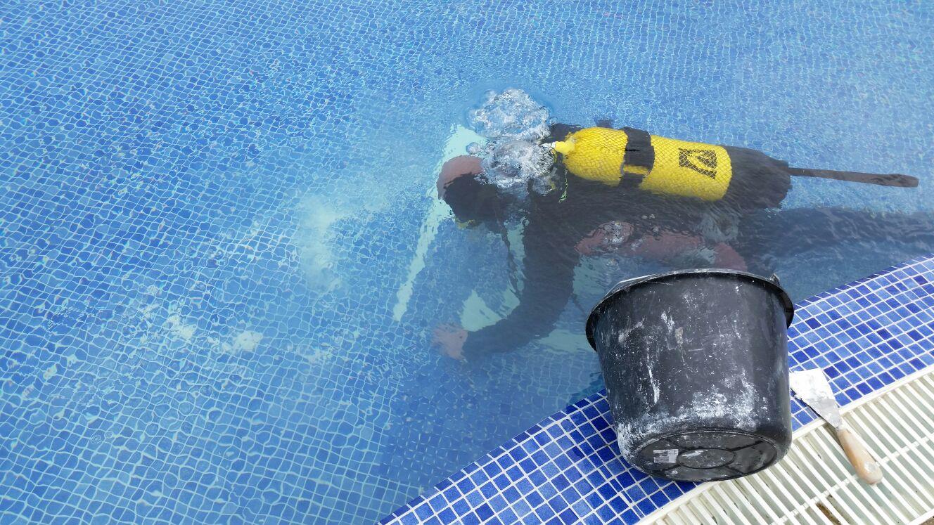 reparacion sin vaciar piscina